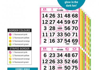 Cosmic Bingo Paper