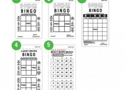 U-Pik-Em Bingo Paper