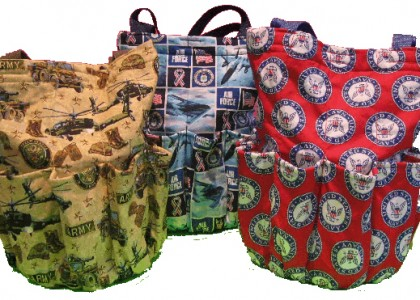 Patriotic Themed Quilted Bingo Bags